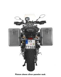 ZEGA Mundo aluminium pannier system 38/38 litres with stainless steel rack black for Yamaha MT-09 Tracer (2015-2017)