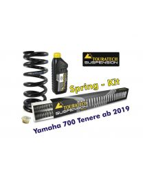 Progressive replacement springs for fork and shock absorber, for Yamaha 700 Tenere from 2019