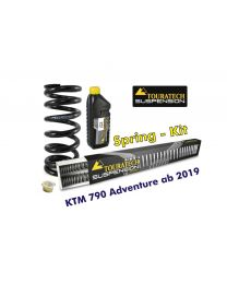 Progressive replacement springs for fork and shock absorber, for KTM 790 Adventure from 2019
