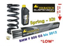 Touratech Height lowering kit. 50 mm. BMW F800GS up to 2012 replacement springs*replacement springs*