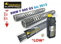 Touratech Progressive fork springs for BMW F800GS up to 2012 *50 mm lowering*