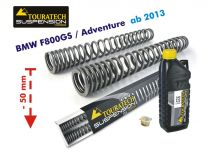 Touratech Progressive fork springs for BMW F800GS / Adventure from 2013 50 mm lowering