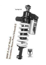 Touratech Black-T shockabsorber Typ Highend for BMW R nineT modell Scrambler/Racer/Pure/UrbanG/S from 2016