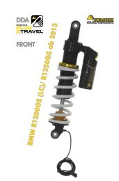 """Touratech Suspension """"front"""" shock absorber DDA / Plug & Travel for BMW R1200GS(LC) 2013-2016 """