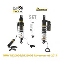 """Touratech Suspension-SET Plug & Travel -25 mm lowering for BMW R1200GS Adventure  2014 - 2016"