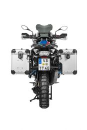 """Touratech ZEGA Evo X special system """"And-S"""" 45/45 litres with stainless steel rack black for BMW R1250GS/ R1250GS Adventure/ R1200GS ab 2013/ R1200GS Adventure ab 2014"""