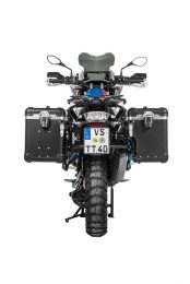 """Touratech ZEGA Evo X special system """"And-Black"""" 45/45 litres with stainless steel rack black for BMW R1250GS/ R1250GS Adventure/ R1200GS ab 2013/ R1200GS Adventure ab 2014"""