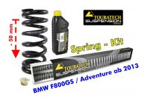 Touratech Height lowering kit. 50mm. for BMW F800GS / Adventure from 2013 replacement springs