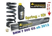 Touratech Height lowering kit. 20mm. for BMW F800GS / Adventure *from 2013**replacement springs*