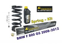 Touratech Height lowering kit. 25mm. for BMW F800GS 2008-2012 replacement springs