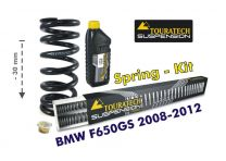 Touratech Height lowering kit. 30mm. for BMW F650GS (TWIN) 2008-2012 replacement springs