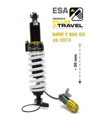 Touratech Suspension. lowering by -50mm for BMW F800GS from 2013 Type: Plug & Travel for BMW ESA
