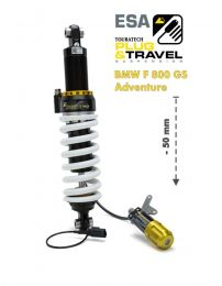 Touratech Suspension. lowering by -50mm for BMW F800GS Adventure from 2014 Type: Plug & Travel for BMW ESA