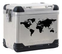 ZEGA PRO/ZEGA Pro2/ZEGA Mundo world map pannier label. black