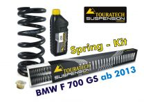 Touratech Hyperpro progressive replacement springs for fork and shock absorber. BMW F700GS *from 2013*