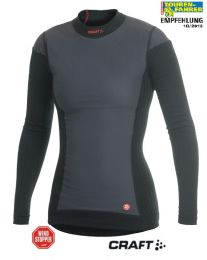 Active Extreme Windstopper long sleeve shirt *Women's*. Colour: black