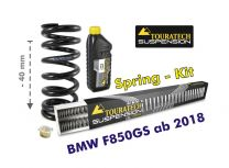 Touratech Height lowering kit. 40mm. for BMW F850GS from 2018 replacement springs
