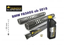 Touratech Progressive fork springs for BMW F850GS/BMW F850GS Adventure from 2018 -25mm lowering
