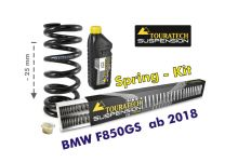 Touratech Height lowering kit -25mm for BMW F850GS / BMW F850GS Adventure from 2018 replacement springs