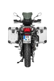 """Touratech ZEGA Evo X special system """"And-S"""" 38/38 litres with stainless steel rack black for BMW F850GS/ F750GS/ F850GS Adventure"""