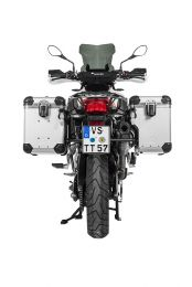 """Touratech ZEGA Evo X special system """"And-S"""" 45/45 litres with stainless steel rack black for BMW F850GS/ F750GS/ F850GS Adventure"""