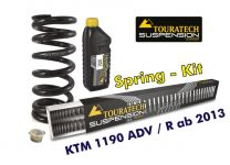 Touratech Progressive replacement springs for fork and shock absorber. KTM 1190 Adventure R from 2013 *replacement springs*