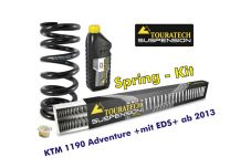 Touratech Progressive replacement springs for fork and shock absorber. KTM 1190 Adventure from 2013 +with EDS+ replacement springs