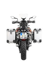 """ZEGA Pro aluminium pannier system """"And-S"""" 31/38 litres with stainless steel rack black for KTM 790 Adventure / 790 Adventure R"""