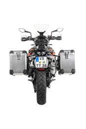 ZEGA Pro aluminium pannier system 38/45 litres with stainless steel rack black for KTM 790 Adventure / 790 Adventure R