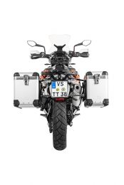 """ZEGA Pro aluminium pannier system """"And-S"""" 38/45 litres with stainless steel rack black for KTM 790 Adventure / 790 Adventure R"""