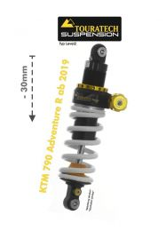 Touratech Suspension lowering shock (-30 mm) for KTM 790 Adventure R from 2019 type Level2