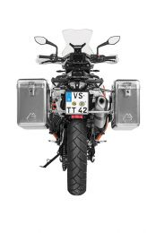 ZEGA Mundo aluminium pannier system 31/38 litres with stainless steel rack for KTM 790 Adventure / 790 Adventure R