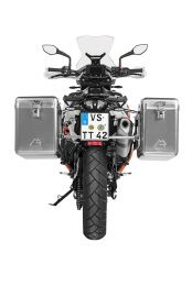 ZEGA Mundo aluminium pannier system 38/45 litres with stainless steel rack for KTM 790 Adventure / 790 Adventure R