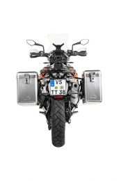ZEGA Mundo aluminium pannier system 31/38 litres with stainless steel rack black for KTM 790 Adventure / 790 Adventure R