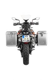 ZEGA Mundo aluminium pannier system 38/45 litres with stainless steel rack black for KTM 790 Adventure / 790 Adventure R