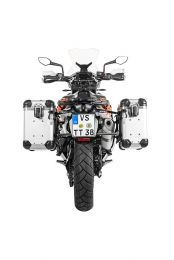 """ZEGA Evo aluminium pannier system """"And-S"""" 31/38 litres with stainless steel rack black for KTM 790 Adventure / 790 Adventure R"""