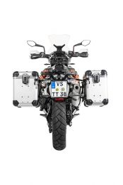 """ZEGA Evo aluminium pannier system """"And-S"""" 38/45 litres with stainless steel rack black for KTM 790 Adventure / 790 Adventure R"""
