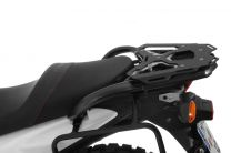 Larger luggage rack aluminium. black. for Suzuki V-Strom 650/V-Strom 650XT (up to 2016)