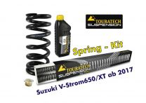 Touratech Progressive replacement springs for fork and shock absorber. Suzuki V-Strom 650/XT from 2017 replacement springs