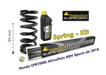 Touratech Height lowering kit. 25mm. for Honda CRF1000L Africa Twin Adventure Sports from 2018 replacement springs