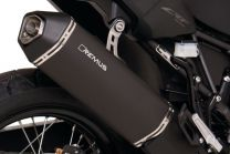 Remus Okami stainless steel silencer. black for Honda CRF1000L Africa Twin (2016). slip-on with ABE certification