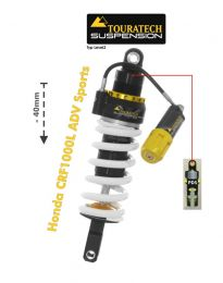 Touratech Suspension lowering shock (-40 mm) for Honda CRF1000L Adventure Sports from 2018 Type Explore HP/PDS