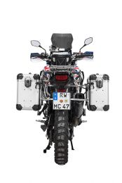"""ZEGA Evo aluminium pannier system """"And-S"""" 31/38 litres with stainless steel rack for Honda CRF1000L Africa Twin (2015-2017)"""