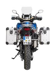 """ZEGA Evo aluminium pannier system """"And-S"""" 31/38 litres with stainless steel rack for Honda CRF1000L Africa Twin (2018-) / CRF1000L Adventure Sports"""