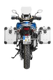 """ZEGA Evo aluminium pannier system """"And-S"""" 38/45 litres with stainless steel rack for Honda CRF1000L Africa Twin (2018-) / CRF1000L Adventure Sports"""