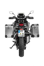 ZEGA Pro aluminium pannier system 31/38 litres with stainless steel rack for Honda CRF1100L Africa Twin