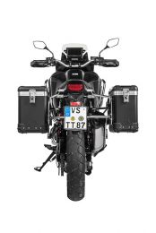 "ZEGA Pro aluminium pannier system ""And-Black"" 31/38 litres with stainless steel rack for Honda CRF1100L Africa Twin"