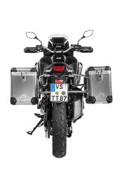 ZEGA Pro aluminium pannier system 38/45 litres with stainless steel rack for Honda CRF1100L Africa Twin