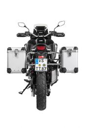 """ZEGA Pro aluminium pannier system """"And-S"""" 38/45 litres with stainless steel rack for Honda CRF1100L Africa Twin"""