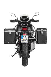"ZEGA Pro aluminium pannier system ""And-Black"" 38/45 litres with stainless steel rack for Honda CRF1100L Africa Twin"